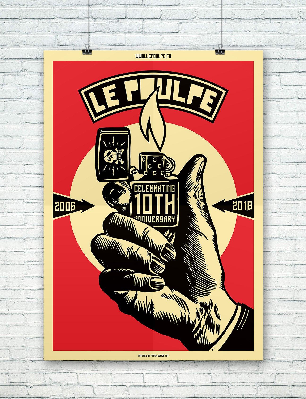 Fabien_cuffel_LePoulpe_Resto_Bar_Concert_Affiche_10ans