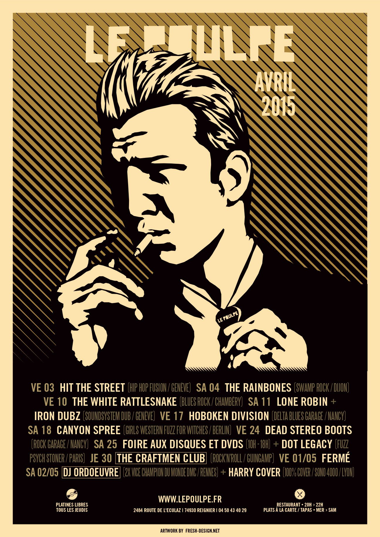 Fabien_cuffel_LePoulpe_Resto_Bar_Concert_Affiche_2015_Josh-Homme_Queen-of-the-stone-age