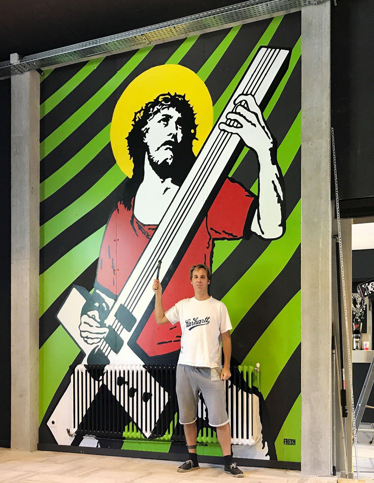 Fabien_cuffel_LePoulpe_Resto_Bar_Concert_Wall_Painting_Jesus