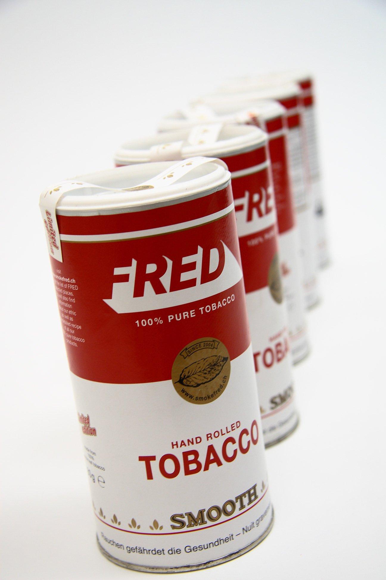 Création d'un packaging pour le tabac à rouler du cigarettier indépendant lausannois et berlinois FRED
