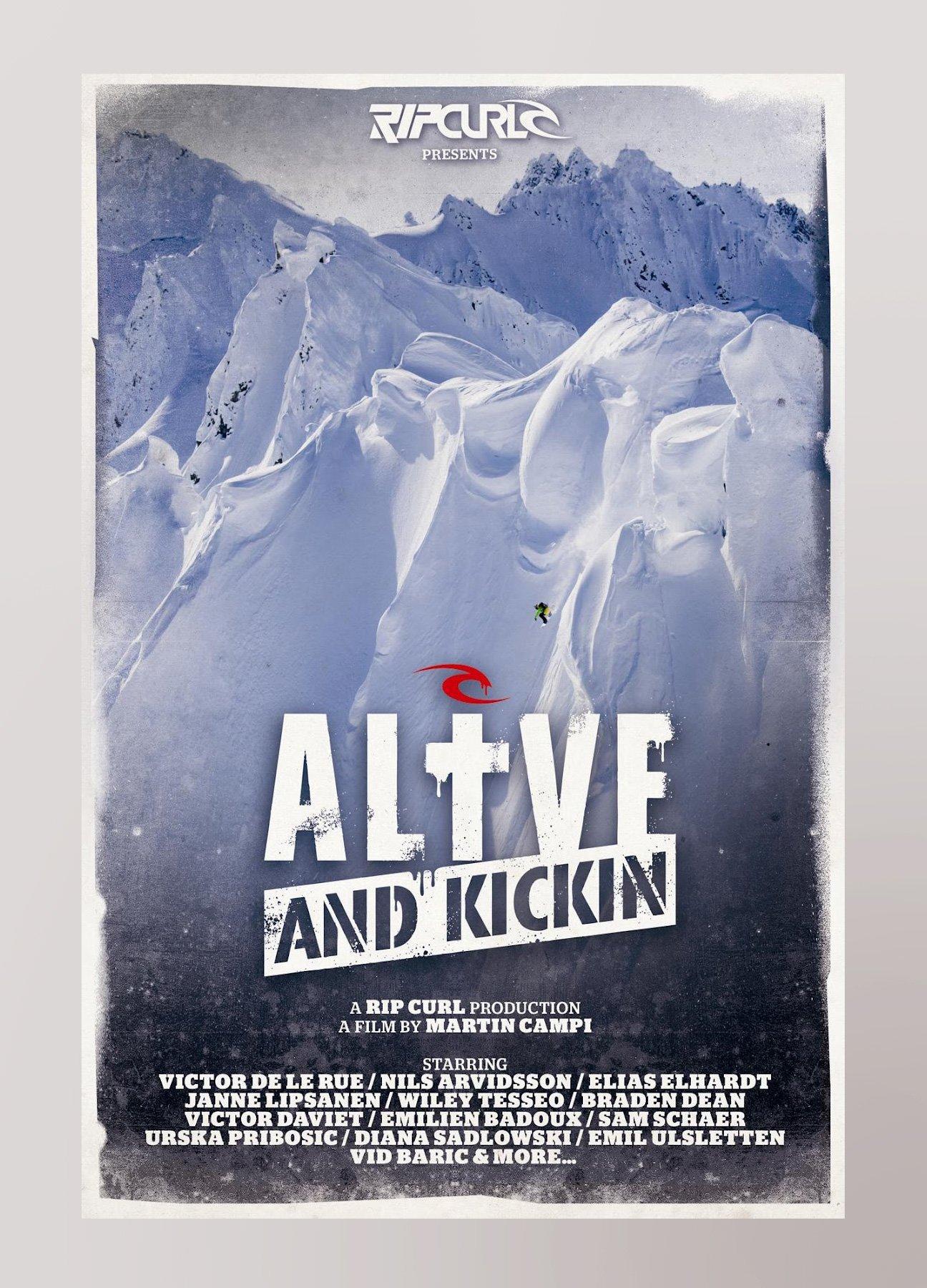 Réalisation d'un logotype extrême, street-art, entièrement réalisé à la bombe, pour la nouvelle video Rip Curl « Alive and Kickin »