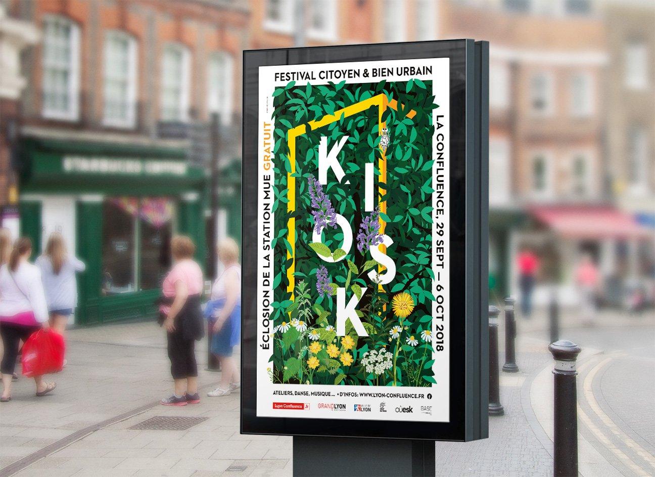 Fabien_cuffel_affiche_festival_Kiosk_lyon_confluence_2018-jcdecaux